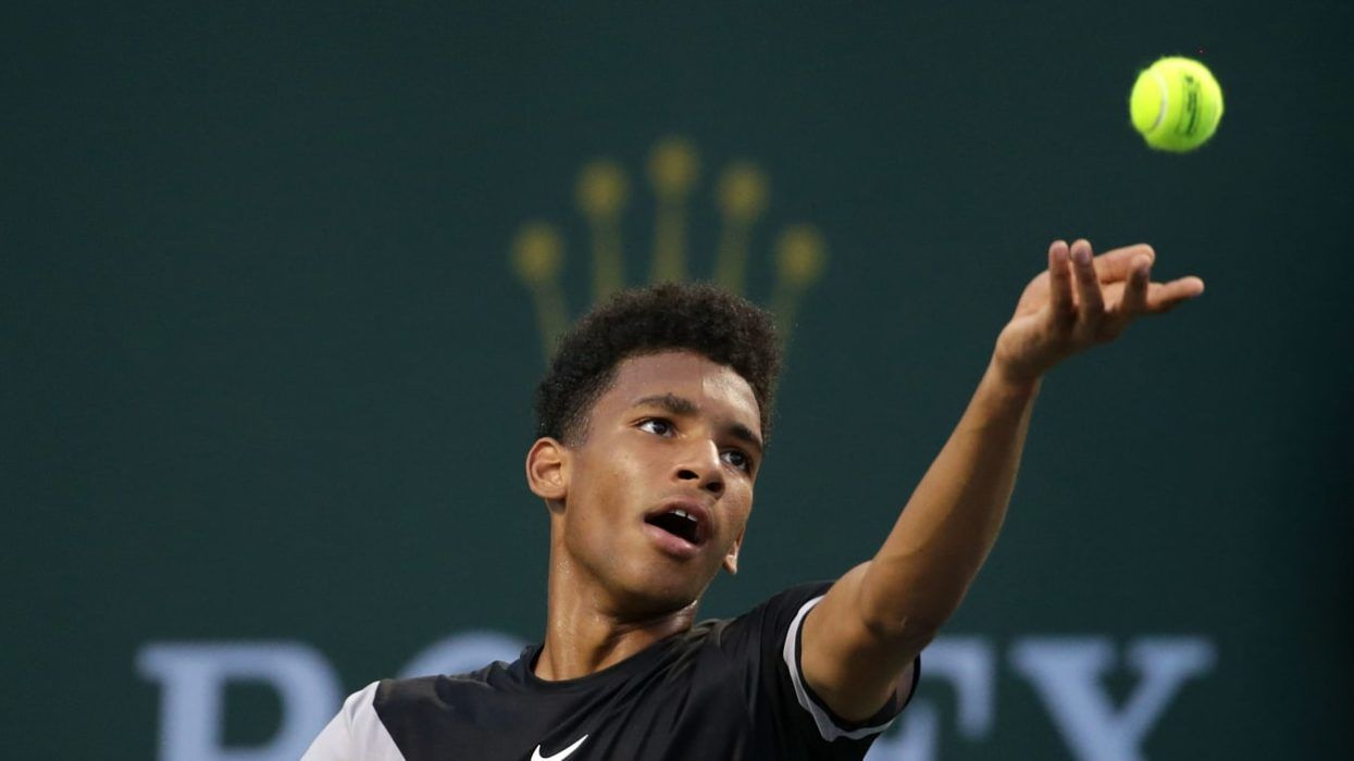Félix Auger-Aliassime à Indian Wells - Source : Rcinet.ca