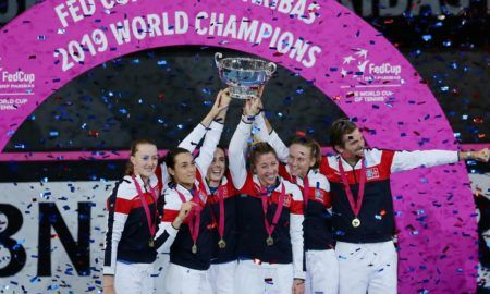 La France soulève la Fed Cup - 10/11/2019, Perth, Getty Images