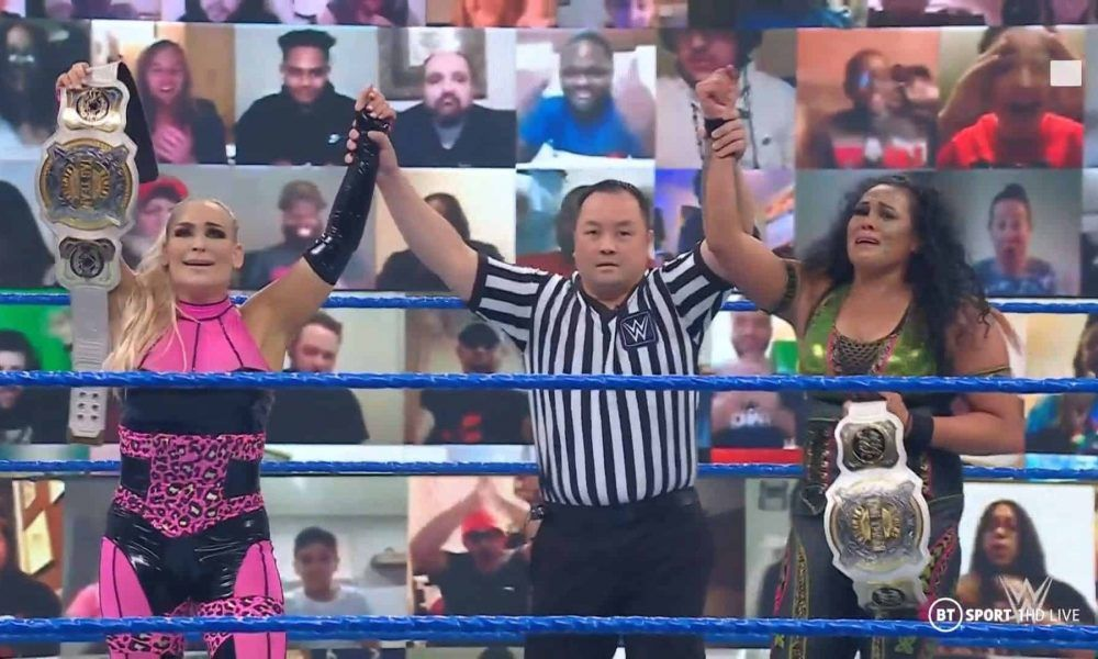 Natalya et Tamina tag team champion